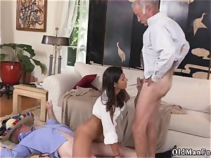 senior and young cord on first-ever time This time they get to shag a fiery latina.