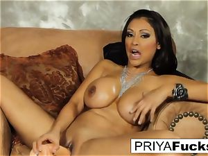 Priya pleases her thirst with a plaything