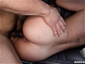 Smoking steamy black-haired picked up and boinked