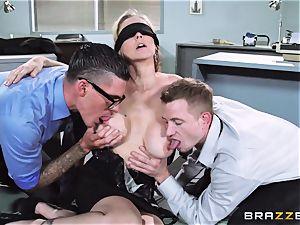 fantastic boss Julia Ann gets a double creaming
