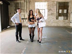 Brandi enjoy lets ho-bo Abbey Lee Brazil fuck her boy