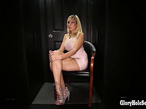 blond cock blowing goddesses in gloryhole
