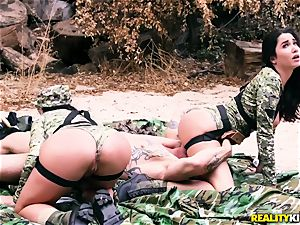 Angela white, Karlee Grey - torrid army beotches with ginormous bosoms