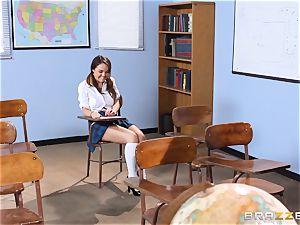 Darling schoolgirl Dillion Harper gets pulverized by her tutor