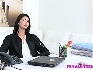 FakeAgentUK small UK honey tries first time anal