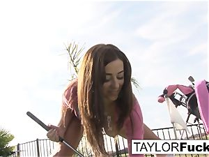 Taylor displays you her yam-sized boobs