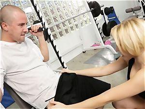 Kagney Linn Karter handsome gym porking