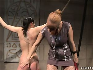 Katy Borman steaming babe got trussed with a kinky breezy