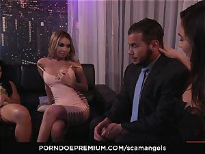 SCAM ANGELS - Kat Dior and Morgan Lee molten threeway