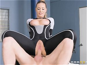 Nicole Aniston gets a facial after a rigid deep drill