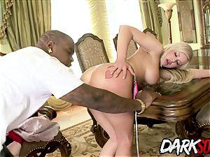 blondie ultra-cutie Andi Anderson bi-racial bum punishment