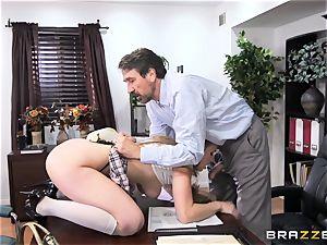 naughty schoolgirl Lena Paul romped by headmaster