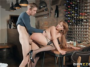 Danny slamming his immense fuck-stick into super-hot ginger-haired