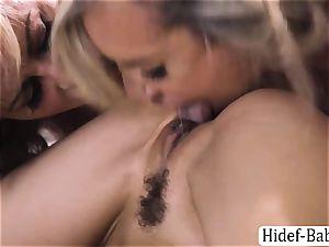 three sluts Cherie DeVille, Alexis Fawx and Brandi enjoy warm group hump
