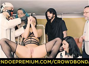 CROWD bondage subjugated Amirah Adara very first time domination & submission