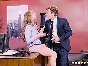 buxom office threesome