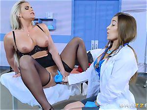 insatiable patient Phoenix Marie sapphic shag with Dani Daniels