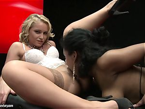 cool Kathia Nobili loves finger romping her accomplices fleshy raw puss fuck hole