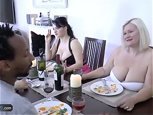 AGEDLOVE granny lush Lacey Starr encountered her buddies