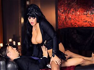 dark-hued haired Alison Tyler romps her suited lover