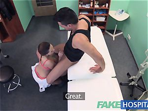 FakeHospital naughty nurse helps patient finish off