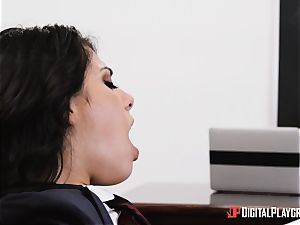 lecturer stuffs his enormous dick into schoolgirl Gina Valentina