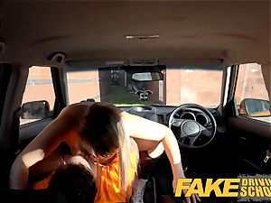 faux Driving school Czech stunner Nikky fantasy orgasms