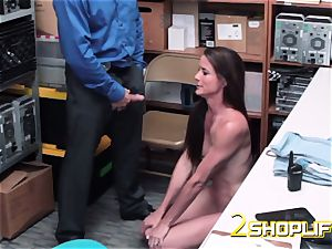 molten milf Sofie is ruined by naughty officers loaded trunk