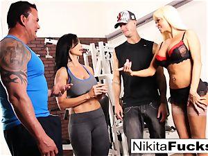 Nikita Von James joins a exercise lovemaking