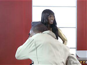 Nikki Benz and Romi Rain getting pummeled