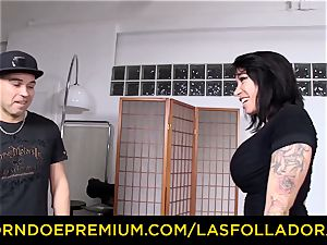 LAS FOLLADORAS - big-boobed Suhaila rock hard penetrated in sizzling 3