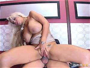 Bridgette B gets more than just being stuck in the raise