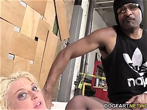 Leya Falcon Gets butt-fucked By A strung up ebony stud