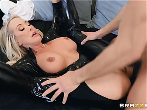 Brandi love smashed in her humid vagina