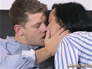 Dane Jones horny black haired Russian has internal cumshot
