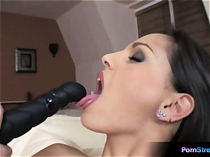 ultra-cutie Eve Angel oral fixation with her favourite dildo