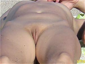 nude Beach voyeur inexperienced - Close-Up fuckbox mummies