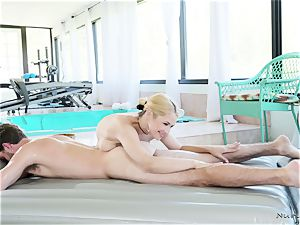 busty masseuse In action