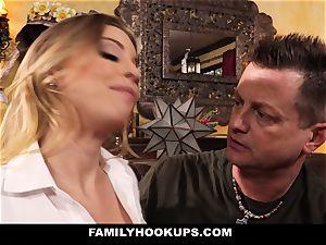 FamilyHookups - super-steamy blonde Stepmom plows Her Stepson
