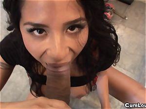 naughty latina Jenaveve Jolie gets her hatch plumbed