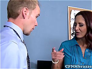 Lisa Ann making the office sense tight in their pants in 720p