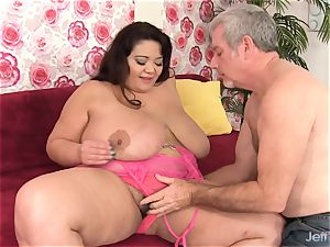 ginormous titty bbw Miss Lingling poked rock-hard in Her vag