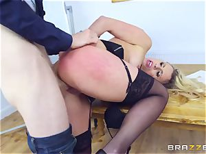 Mature Dean Brittany Bardot gets penalized by her student