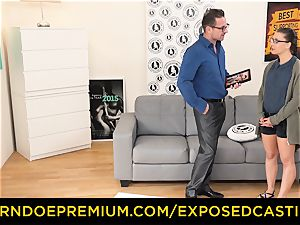 unveiled audition - Nerdy inexperienced dark-haired hottie banged