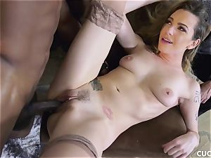 dark-hued boy humps his manager sex-positive wifey Dahlia Sky