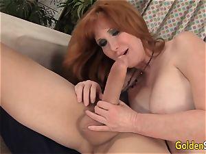 Redheaded grandmother Freya Fantasia plowed hard