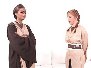 Jedi flesh Diamond displays Penny Pax the strength