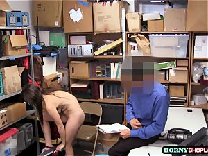 chesty Jade Amber gets her tight beaver nailed by muscled officers gigantic pipe