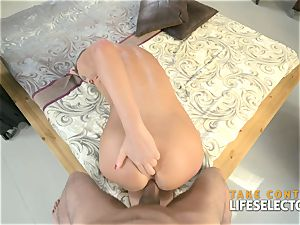 red-hot wifey is pummeled after coming home from a lengthy excursion