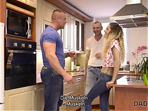 DADDY4K. Mature boy plows bony stunner in elder and young porn flick